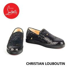 Christian Louboutin スリッポン ルブタン 手でなぞると2つの魅力を楽しめるスリッポンシューズ Christian Louboutin Women, Slip On, Sneakers, Shoes, Fashion, Tennis, Moda, Slippers, Zapatos