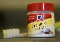 Use your old tooth brush and ice cream tartar to clean stainless steel surfaces in your home.
