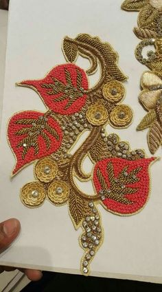 Jacknjewel offers you colourfull collection of all hand made iteams. Zardozi Embroidery, Pearl Embroidery, Tambour Embroidery, Embroidery Motifs, Indian Embroidery, Silk Ribbon Embroidery, Hand Embroidery Designs, Brazilian Embroidery, Diy Embroidery