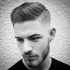 """Classic #gentlemanscut done proper by @nicholas_the_greek. Business man with a #hardpart combed over into an #executivecontour dressed with…"""
