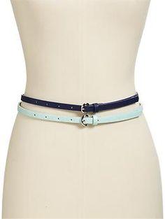 Women's Skinny Belt 2-Packs   Old Navy