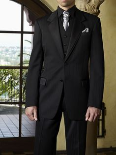 tux idea for prom? All Black Tuxedo, All Black Suit, Tuxedo Wedding, Wedding Suits, Wedding Attire, Groom And Groomsmen Attire, Groom Outfit, Groom Tux, Wedding Outfit For Boys