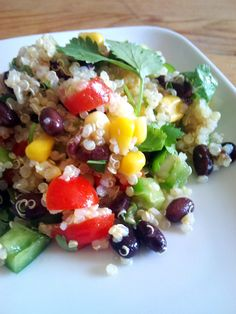 Qunoa black bean salad