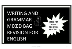 Writing and Grammar Revision Pack...