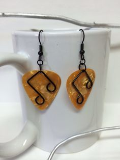 Guitar Pick Earrings by CraftsByBrie on Etsy, $5.00