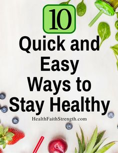 It can be hard to improve your health when you're busy. So here are 10 quick and…