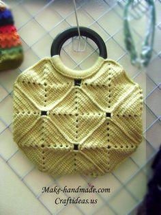 Crochet handbag from squares - Craft Ideas - Crafts for Kids - HobbyCraft