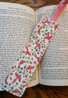 6a0ceec3302c62 Timeless Spring Fabric Bookmark by PuddleDuckCottage on Etsy