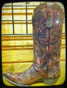 Old Gringo Cowgirl Boots. Eagle Swarovski in Burgundy at RiverTrailMercantile.com.