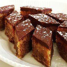 Karamelkage Australsk - Opskrift fra myTaste Diy Dessert, Dessert Bars, Danish Dessert, No Bake Cake, Amazing Cakes, Love Food, Cupcake Cakes, Cravings, Deserts