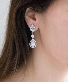 "long shiny SILVER TONE /& bead chain tassel earrings STUNNING NEW 7/"" X"