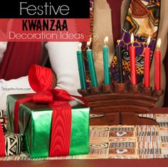 How To Transform Your Home With Kwanzaa Decorations. See how to celebrate and decorate your home for this week-long celebration starting Dec. Diy Kwanzaa Decorations, Christmas Decorations, Holiday Decor, Holiday Ideas, Christmas Wreaths, Diy Home Decor Rustic, Decor Diy, Decor Ideas, Happy Kwanzaa