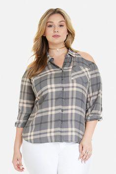 Plus Size Claire Cold Shoulder Shirt Cold Shoulder Shirt, Fashion To Figure, Claire, Plus Size, Shopping, Collection, Tops, Dresses, Vestidos