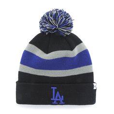 Los Angeles Dodgers Breakaway Cuff Knit Black 47 Brand Hat 623f73b26562