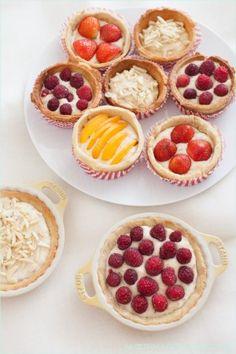 Für Marzipanfans - Leichte Tartelettes mit Früchten