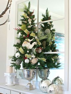 Creative and festive ways to use accessories that you may already have for Christmas Decorating.