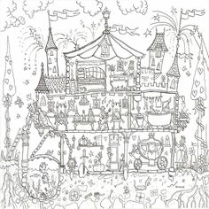 Princess Palace Colouring In Poster