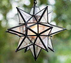 Pottery Barn Olivia Star Pendant Ceiling Light $149.00