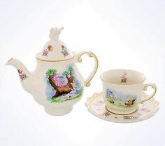 Disney Parks Alice In Wonderland Tea Mug & Teapot Set Tea For One New Wih Box #Disney #AliceInWonderland