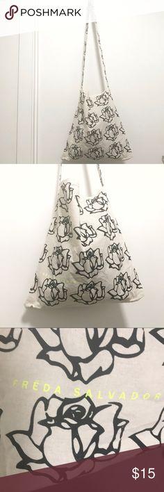 Freda Salvador Tote Bag Cute floral print canvas bag. Great worn cross body. freda salvador Shoes
