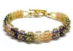 Swarovski bracelet, Colorful Flora Swarovski Pearls