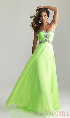 Strapless Prom Gown by Night Moves 6642 at PromGirl.com