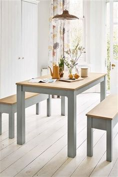 Buy Malvern Dining Table And Bench Set from the Next UK online shop Marble Top Dining Table, Dining, Oak Dining Chairs, Rectangle Dining Table, Dining Table, Farmhouse Table With Bench, Buy Dining Room Table, Wooden Dining Tables, Table And Bench Set