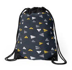 'Triangle Trail' drawstring bag by tracieandrews