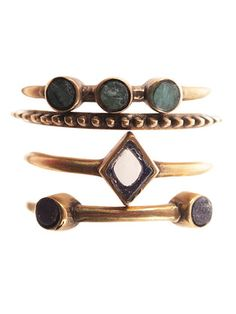 Sidra stacked ring set by A Peace Treaty. APT jewelry is handmade by artisans in regions of socio-political strife.