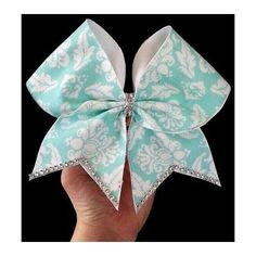 Teal Elegance Cheer Bow by beckbows on Etsy Softball Bows, Cheerleading Bows, Cheer Stunts, Volleyball, Cute Cheer Bows, Cheer Hair Bows, Big Bows, Dance Bows, Cheer Dance