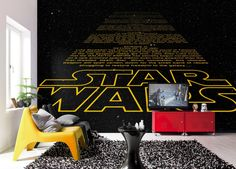 Fine Décor Komar Star Wars Intro wall mural is the perfect way to add some fun to your walls. Perfect for all Star Wars fans, old and young! Star Wars Decor, Decoration Star Wars, Star Wars Art, Star Trek, Poster Xxl, Star Wars Poster, Boys Bedroom Decor, Bedroom Themes, Photo Wallpaper