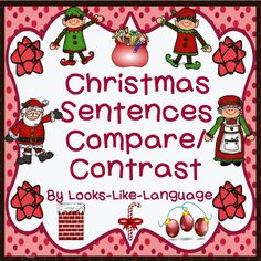 Make sentences and compare/contrast holiday items! Two games and a word wall or use as task cards! Worksheet freebie for follow-up! $