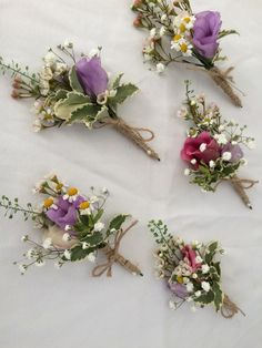 Mixed small flower boutonnières