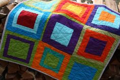 quilting - Why Not Sew?: Solids Baby Quilt