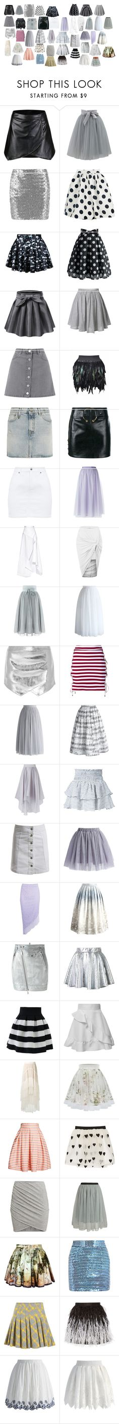 """Skirts 2"" by spellcasters ❤ liked on Polyvore featuring Chicwish, Miss Selfridge, R13, Anthony Vaccarello, RED Valentino, Michael Lo Sordo, Mason by Michelle Mason, House of Holland, Apiece Apart and Sans Souci"