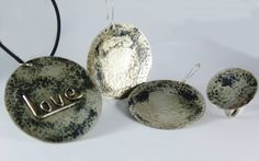 Oxidized hammered set #silver #oxidized #hammered #handmadejewelry #picart #fb