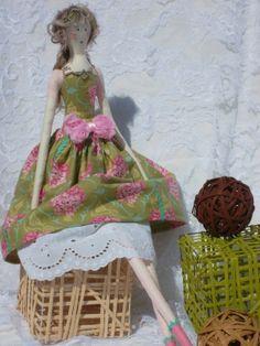 """POUPEE en chiffon décoration Pin'UP """"LUCIE la romantique"""" : Accessoires de maison par paquita-14400"""