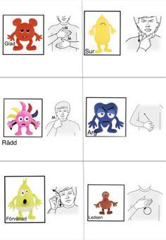 Babblarnas känslor - teckenspråk