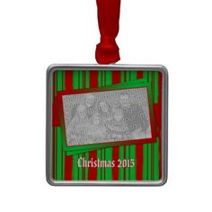 Hang Pictures Of ornaments from Zazzle on your tree this holiday season. Start a new holiday tradition with thousands of festive designs to choose from. Picture Frame Christmas Ornaments, Photo Ornaments, Christmas Pictures, Green Christmas, Christmas 2015, Hanging Pictures, Holiday Traditions, Custom Photo, Red Green