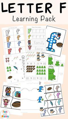 Free Letter F Printable Pack, Free Educational Worksheets, Best Printable Worksheets, Learning Resources, Letter F Worksheets