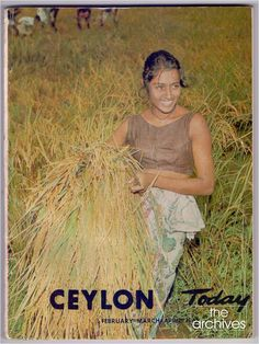 Cover of Ceylon Today - of Feb - Apr 1968 (Vol XVII Nos. 2-4) a magazine published by the Ceylon Government Information Department.