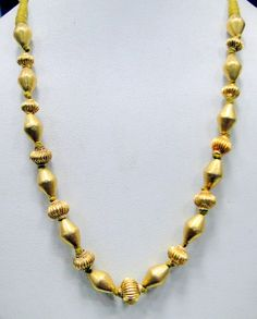 vintage 22 K gold beads necklace strand jewelry by TRIBALEXPORT, $801.00