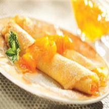 Mandarin Orange Crepes from Hungry Jack® Breakfast Desayunos, Breakfast Ideas, Waffle Mix, Good Food, Yummy Food, Crepe Recipes, Pancakes And Waffles, Relleno, The Best
