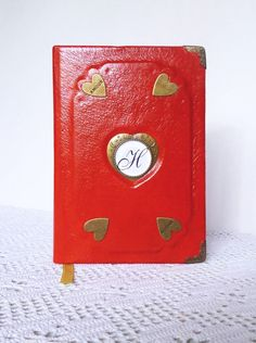 Personalized Journal Diary Leather Notebook Ace of by AnnaKisArt