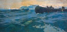 KONSTANTIN KOROVIN. FISHING IN THE MURMAN SEA. 1896. PANEL FOR THE PAVILLION OF THE FAR NORTH AT THE 1896 NIZHNY NOVGOROD EXHIBITION OF INDUSTRY AND ART. OIL ON CANVAS. 202 × 430 CM. TRETYAKOV GALLERY KONSTANTIN KOROVIN. MARKET AT THE ARKHANGELSK MOORING. 1896 Oil Canvas, Ukrainian Art, Impressionism Art, Art Database, Oil Painting Reproductions, Paris, Claude Monet, Landscape Paintings, Landscapes