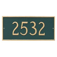 Montague Metal Products Classic Rectangle One Line Wall Mount Address Sign Finish: Navy/Silver