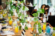 A botanically inspired, paired dining experience. Project Botanicals Press Launch.