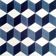Handmade cement encaustic tiles. Geométrico,Hydraulic Andalusian Tiles for both the floor and wall. MOD-111-E
