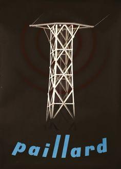 Paillard (tower) by Birkhauser, Peter | Baumberger, Otto Baumann - Fraumunsterstr. 17, 1928 | Shop original vintage Swiss #posters online: www.internationalposter.com
