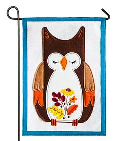 Look what I found on #zulily! Autumn Owl Outdoor Flag #zulilyfinds